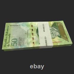 Full bundle lot 100 PCS, Venezuela 50 Bolivares, 2015, P-92, UNC