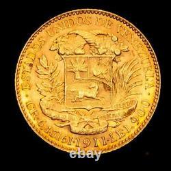 Lucernae Venezuela 20 Bolivares 1911 Oro Simon Bolivar (Paris)