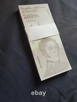 ORIGINAL BUNDLE VENEZUELA 200.000 Bolivares Banknotes UNC 2020 pick NEW 100PCS