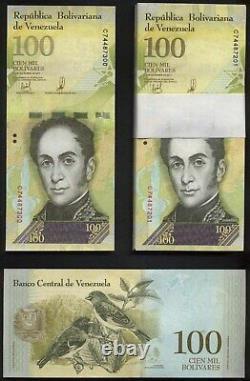 Originalbündel 100 notes ORIGINAL BUNDLE VENEZUELA, 100000 Bolivar Fuerte 2017