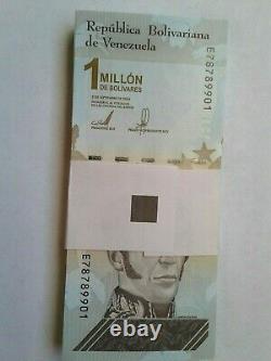 Paper Money Venezuela 1 Million Bolivares Full Bundle 100 Notes 2020 Unc New