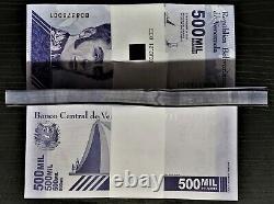 Set 50 Pcs New Banknote 500.000 Bolivares September 03. 2020 Venezuela Unc