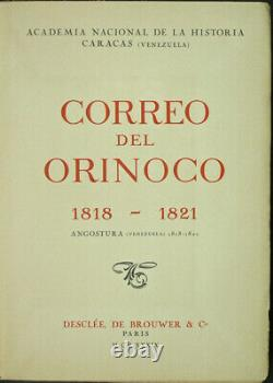 Simon Bolivar Correo del Orinoco 1818-1821. (Venezuela) Facsimile. 1939