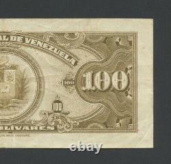 VENEZUELA 100 bolivares 1956 P34c About Very Fine Banknotes