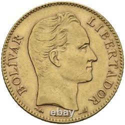 VENEZUELA 1904 20 BOLIVARES GOLD 0.900 PARIS 21 mm KM# Y#32 C5857