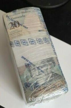 VENEZUELA 20 BOLIVARES 2018 x 1000 Full Brick LOT UNC