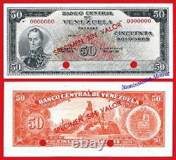 VENEZUELA 50 Bolivares 1961 SPECIMEN Pick 44s SC- / aUNC
