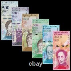 VENEZUELA 500 1000 2000 5000 10000 20000 100000 BOLIVARES 2016 (700 billetes)