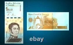 VENEZUELA SET (10pcs) 1.000.000 Million Bolivares note UNC 2021 pick NEW