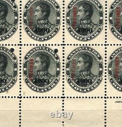 VENEZUELA Simon Bolivar 1901 SPECIMEN 1b Postal Fiscal Block10 UM MNH MA612