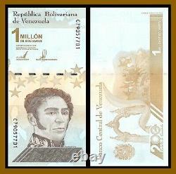 Venezuela 1,000,000 (1 Million) Bolivares x 100 Pcs Bundle, 2020 (2021) P-New