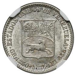 Venezuela, 1/4 Bolivar (25 centimos), 1921, NGC MS 61