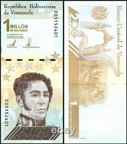 Venezuela 1 Million Bolivar Soberano Banknote, X 100 PCS, 2020, P-114, UNC, Bundle