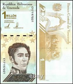 Venezuela 1 Million Bolivar Soberano Banknote, X 1000 PCS, 2020, P-114, UNC, Brick