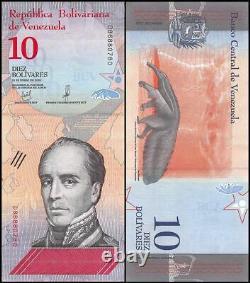 Venezuela 10 Bolivar Soberano X 1000 PCS, 2018, Used, Rafael Urdaneta, Brick