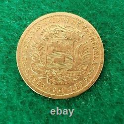 Venezuela 10 Bolivares 1930 Gold Coin Fine Condition