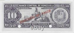 Venezuela 10 Bolivares 1963-1970 P45s Specimen Uncirculated
