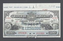 Venezuela, 100 Bolivares (1915-17) PS220s Specimen Uncirculated
