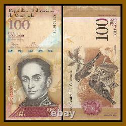 Venezuela 100 Bolivares x 500 Pcs Bundle 1/2 Brick, 2007-2017 P-93 Bird Used