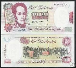 Venezuela 1000 Bolivares P76 X 100 Pcs Lot 1998 Bundle Horse Bolivar Unc Note
