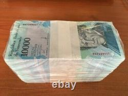 Venezuela 10000 10,000 Bolivares 2017 Bundle X 1000 Pcs Brick Lot Bear Horse Unc