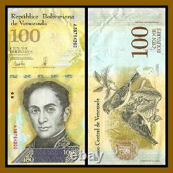 Venezuela 100000 (100,000) Bolivares Fuerte x 100 Pcs Bundle, 2017 P-100 USED