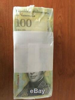Venezuela 100000 (100,000) Bolivares X 1000 Pcs Brick Bundle, UNC 2017 New Note