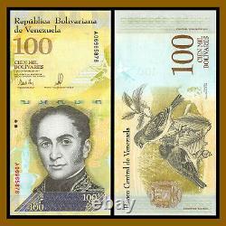 Venezuela 100000 (100,000) Bolivares x 500 Pcs Bundle Half Brick, 2017 P-100 Unc