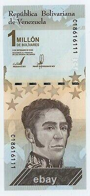Venezuela 1000000 Bolivares 3-9-2020 Pick New UNC Uncirculated Banknote Bundle