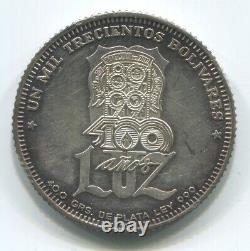 Venezuela 1300 Bolivars 1991 University Of Maracaibo Silver Proof Very Rare