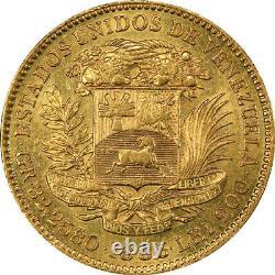 Venezuela 1886 Gold 100 Bolivares PCGS AU-55 Mintage 4,250