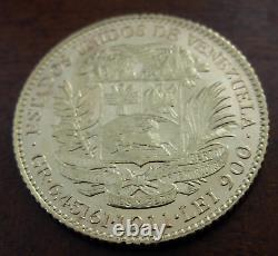 Venezuela 1911 Gold 20 Bolivares AU Bolivar