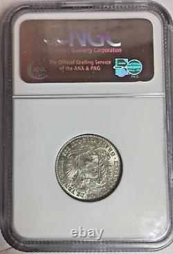 Venezuela 1935 Silver Coin 1 Bolivar Simon NGC MS62