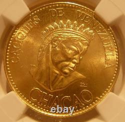 Venezuela 1955 Gold 60 Bolivares NGC MS67 Chiefs Series Chacao