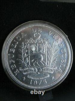 Venezuela 1975 UNC 25 50 Bolivares Jaguar Armadillo Conservation Silver Coin Set