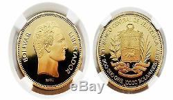 Venezuela 1987 10,000 Bolivares Gold NGC PF68 ULTRA CAMEO