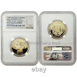 Venezuela 1990 Paez Bicentennial 5,000 Bolivares Gold NGC PF67 ULTRA CAMEO