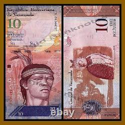 Venezuela 2 100 Bolivares (6 Pcs Set) X 10 Lots, 2007-2016, P-88-93, UNC
