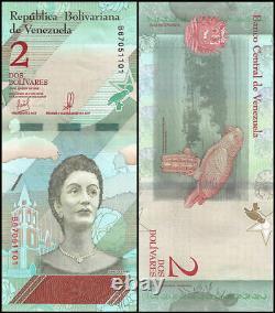 Venezuela $2 Bolivares 2 2018 Bricks 2000 Pcs New UNC Consecutive Packs Banknote