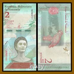 Venezuela 2 Bolivares Soberanos x 100 Pcs Bundle, 2018 P-101 (Z) Replacement Unc