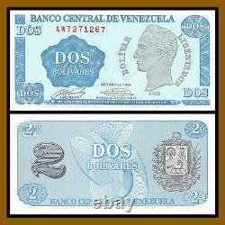 Venezuela 2 Bolivares x 100 Pcs Bundle, 1989 P-69 Code of Arms Unc