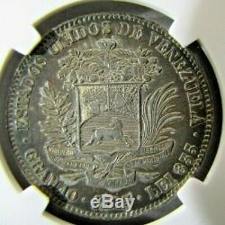 Venezuela 2 Bolivars 1905 (Upright 5) NGC AU details (cleaned)