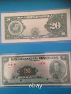 Venezuela 20 Bolivares. 1940's UNC Especimen Specimen Uncirculated Banknote