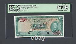 Venezuela 20 Bolivares 1967-74 P46s Specimen TDLR Uncirculated
