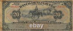 Venezuela 20 Bolivares 28.4.1937 S 311 Scarce Circulated Banknote AAU1