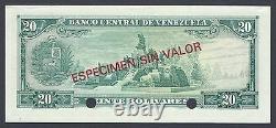Venezuela 20 Bolivares 5-3-1968 P46bs2 Specimen Uncirculated