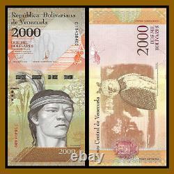 Venezuela 2000 (2,000) Bolivares x 500 Pcs Bundle (Half Brick), 2016 P-96 Unc