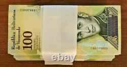 Venezuela 40 Million 100000 100,000 Bolivares x 400 Pcs Lot Bundle UNC Currency