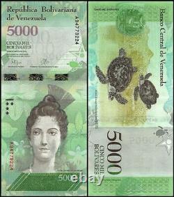 Venezuela 5,000 5000 Bolivar Fuerte X 1000 PCS, 2007-17, Used, Brick