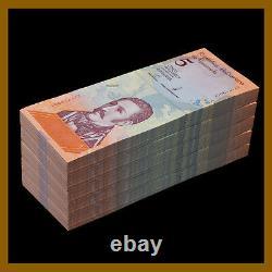 Venezuela 5 Bolivares Soberanos x 500 Pcs Bundle (Half Brick), 2018 P-102 Unc